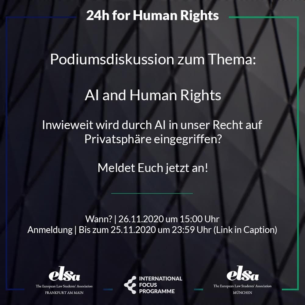 Podiumsdiskussion: AI and Human Rights
