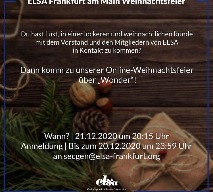 ELSA Frankfurt am Main Weihnachtsfeier (online)
